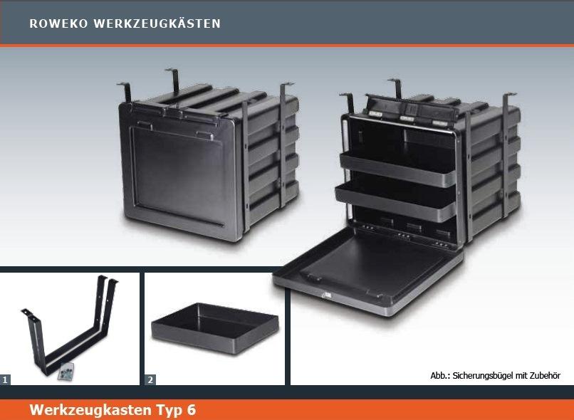 roweko typ 6 staubox werkzeugbox 630x600x545mm bxtxh f. Black Bedroom Furniture Sets. Home Design Ideas